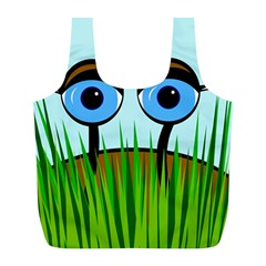 Snail Full Print Recycle Bags (l)  by Valentinaart