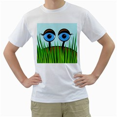 Snail Men s T Shirt (white)  by Valentinaart