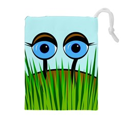 Snail Drawstring Pouches (extra Large) by Valentinaart