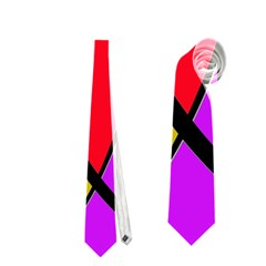 Colorful Lines Neckties (two Side)  by Valentinaart