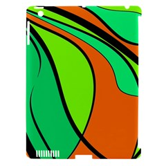 Green And Orange Apple Ipad 3/4 Hardshell Case (compatible With Smart Cover) by Valentinaart