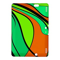 Green and orange Kindle Fire HDX 8.9  Hardshell Case by Valentinaart