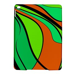 Green and orange iPad Air 2 Hardshell Cases