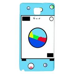Washing Machine  Galaxy Note 4 Back Case by Valentinaart