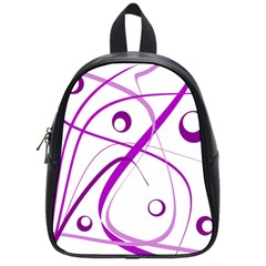 Purple Elegant Design School Bags (small)  by Valentinaart
