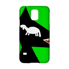 Wolf and sheep Samsung Galaxy S5 Hardshell Case  by Valentinaart