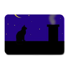 Cat on the roof  Plate Mats by Valentinaart