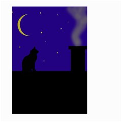 Cat On The Roof  Large Garden Flag (two Sides) by Valentinaart
