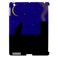 Cat On The Roof  Apple Ipad 3/4 Hardshell Case (compatible With Smart Cover) by Valentinaart