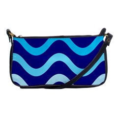Blue Waves  Shoulder Clutch Bags by Valentinaart