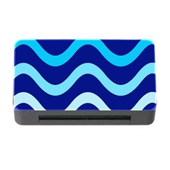 Blue Waves  Memory Card Reader With Cf by Valentinaart