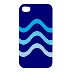 Blue Waves  Apple Iphone 4/4s Hardshell Case by Valentinaart