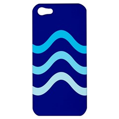 Blue Waves  Apple Iphone 5 Hardshell Case by Valentinaart