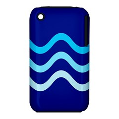 Blue Waves  Apple Iphone 3g/3gs Hardshell Case (pc+silicone) by Valentinaart