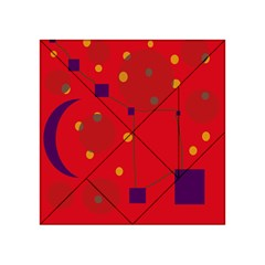 Red Abstract Sky Acrylic Tangram Puzzle (4  X 4 ) by Valentinaart