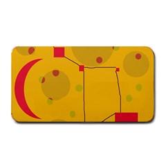 Yellow Abstract Sky Medium Bar Mats by Valentinaart