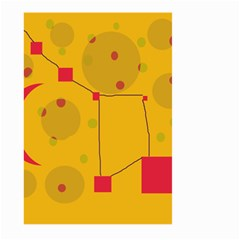 Yellow abstract sky Large Garden Flag (Two Sides) by Valentinaart