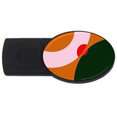 Decorative abstraction  USB Flash Drive Oval (1 GB)  by Valentinaart