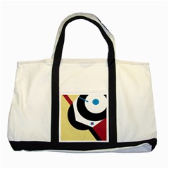 Digital Abstraction Two Tone Tote Bag by Valentinaart
