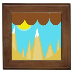 Abstract Landscape  Framed Tiles by Valentinaart