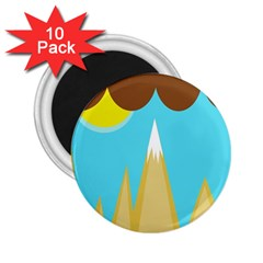 Abstract landscape  2.25  Magnets (10 pack)  by Valentinaart