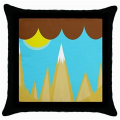Abstract Landscape  Throw Pillow Case (black) by Valentinaart