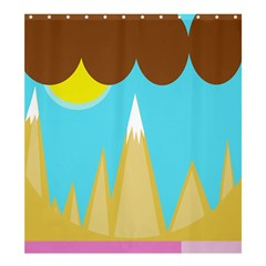 Abstract Landscape  Shower Curtain 66  X 72  (large)  by Valentinaart