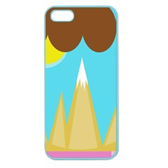 Abstract Landscape  Apple Seamless Iphone 5 Case (color) by Valentinaart