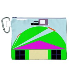 Abstract landscape  Canvas Cosmetic Bag (XL) by Valentinaart