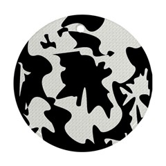 Black And White Elegant Design Round Ornament (two Sides)  by Valentinaart