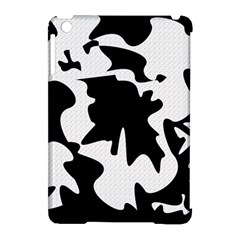 Black and white elegant design Apple iPad Mini Hardshell Case (Compatible with Smart Cover) by Valentinaart