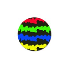 Colorful Abstraction Golf Ball Marker by Valentinaart