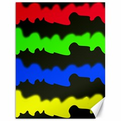 Colorful Abstraction Canvas 18  X 24   by Valentinaart