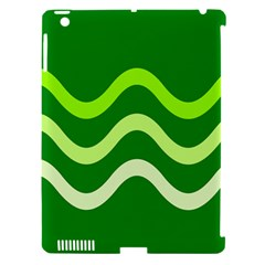 Green Waves Apple Ipad 3/4 Hardshell Case (compatible With Smart Cover) by Valentinaart
