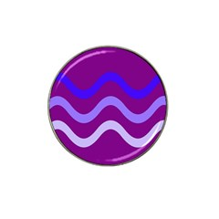 Purple Waves Hat Clip Ball Marker (10 Pack) by Valentinaart