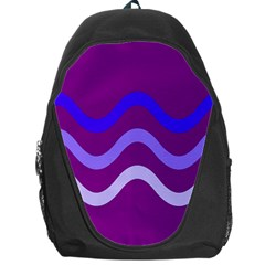 Purple Waves Backpack Bag by Valentinaart