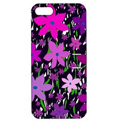 Purple Fowers Apple iPhone 5 Hardshell Case with Stand