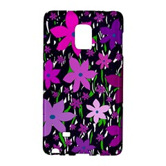 Purple Fowers Galaxy Note Edge by Valentinaart