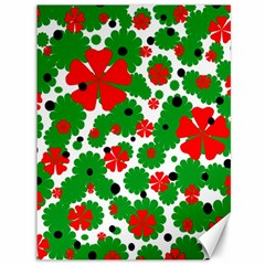 Red And Green Christmas Design  Canvas 36  X 48   by Valentinaart