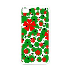 Red And Green Christmas Design  Apple Iphone 4 Case (white) by Valentinaart