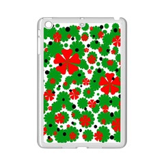 Red And Green Christmas Design  Ipad Mini 2 Enamel Coated Cases by Valentinaart