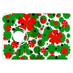 Red And Green Christmas Design  Kindle Fire Hdx Flip 360 Case by Valentinaart