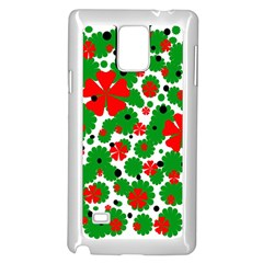 Red And Green Christmas Design  Samsung Galaxy Note 4 Case (white) by Valentinaart