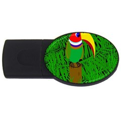 Toucan USB Flash Drive Oval (4 GB)  by Valentinaart