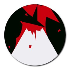 Volcano  Round Mousepads by Valentinaart