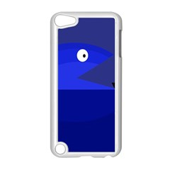 Blue Monster Fish Apple Ipod Touch 5 Case (white) by Valentinaart
