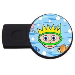 Diver Usb Flash Drive Round (2 Gb)  by Valentinaart