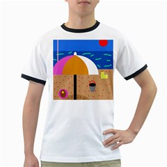 On The Beach  Ringer T Shirts by Valentinaart
