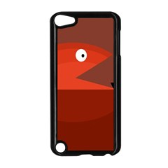 Red monster fish Apple iPod Touch 5 Case (Black) by Valentinaart