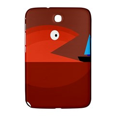 Red Monster Fish Samsung Galaxy Note 8 0 N5100 Hardshell Case  by Valentinaart